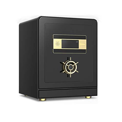 DJDLLZY Caja de Seguridad de Seguridad, Caja Fuerte de Acero sólido electrónico con Oficina de Teclado, Caja de Seguridad Digital para Documentos en Efectivo.
