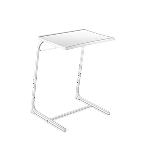 Computer Beistelltisch Mobiler Laptoptisch Notebook Tisch Workstation Wohnzimmer Büro Multifunktional Und Praktisch Laptop Desk Cart (Color : White, Size : 52x40x(55~70) cm)