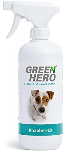 Green Hero Knabber-EX Erziehungsspray für Hund & Katze Verhindert Knabbern & Ankauen von Möbeln Schuhen u.v.m. Bitterspray Knabberstopp 500 ml