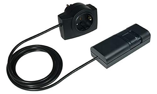 EHMANN Schnurdimmer T21.07 schwarz mit Zwischenstecker, Plug&Play, Phasenanschnitt, 230V, 50Hz, Leistung: LED 3-35W, 7-110W/VA