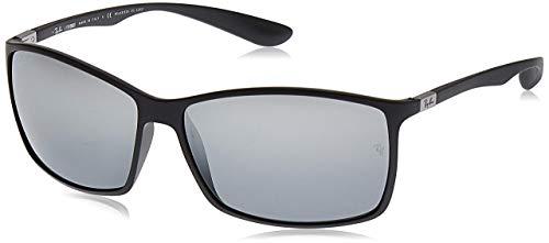 Ray-Ban Herren RB4179 Sonnenbrille, Schwarz (Matte Black/Graymirrorsilverpolar), One Size (62)