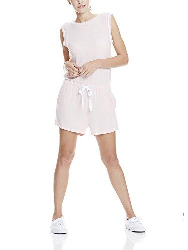 Bench Damen Short Sweat Jumpsuit, Rosa (Pink PK11197), 40 (Herstellergröße: L)