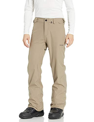 Volcom Men's Freakin Relaxed Fit Chino Style Snow Pant, Teak, Extra Small