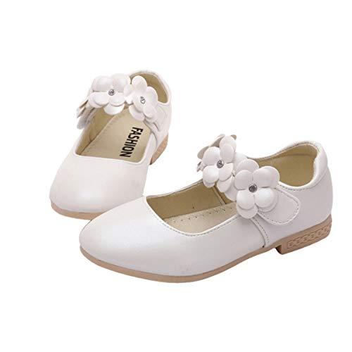 Happyyami Scarpe Principessa per Bambina Ballerine Bimba Scarpe da Sposa per Bambini Mary Jane