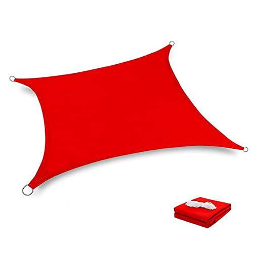 LIXIAOLIANSD Red de sombreado para verano, impermeable, rectangular, cubierta para el sol, para jardín, terraza, natación, camping, patio, vela toldo de jardín (color: rojo, tamaño: 3 x 5 m)