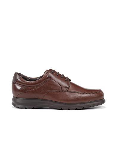 Fluchos   Zapato de Hombre   Zeta F0602 Soft Bristol Nuez Zapato   Zapato de Piel de Vacuno de Primera Calidad   Cierre con Cordones   Piso Ligero de Goma EVA dotado de la tecnología Shock Absorber