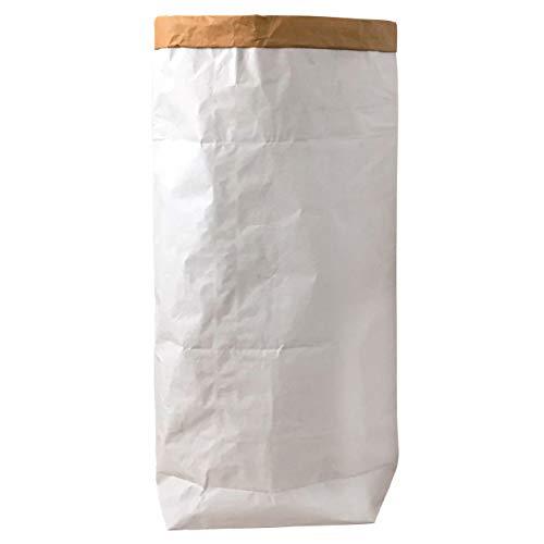 95 Grad Kraftpapier Sack Tüte Papier Wäschesack Weiss Braun Blanko (1)