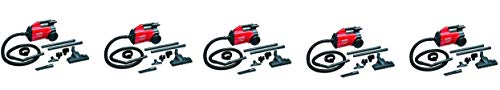 Sanitaire SC3683B Extend Canister Vacuum, 10 lb, Red (5-Pack)