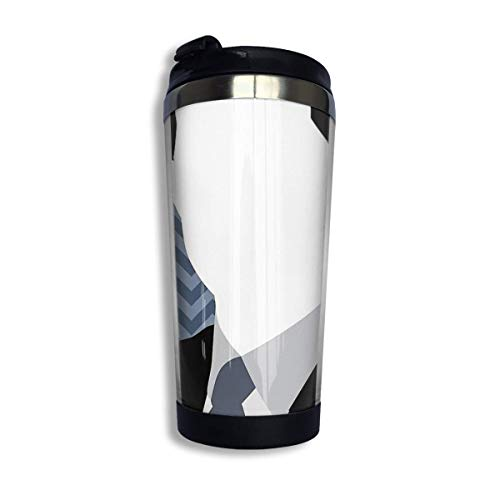 vfrtg Taza de viaje de vaso de acero inoxidable Twin Peaks Agent Cooper Insulated Vacuum Stainless Steel Tumbler Cup 13.5oz Coffee Travel Mug