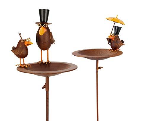 netproshop Vogeltränken am Stab mit Raben H: ca. 110 cm, Auswahl:Rabe