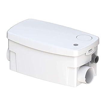 Saniflo 010 SANISHOWER Upflush Toilet Water Basement Bathroom & Water Pump Shower Light Duty Gray sink system White Bundled With Instruction Manual