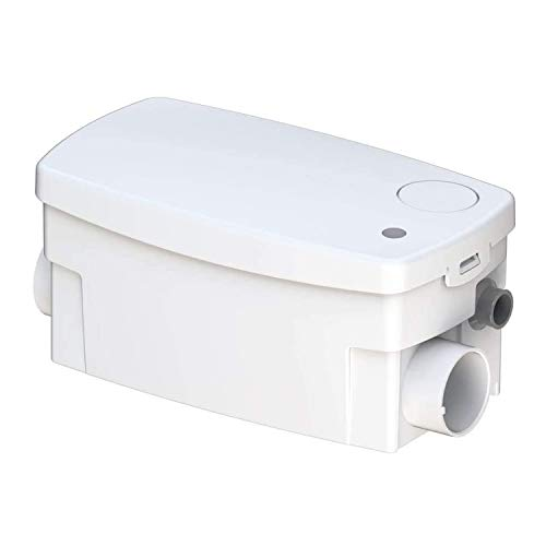 Saniflo 010 SANISHOWER, Upflush Toilet Water Basement, Bathroom & Water Pump Shower, Light Duty Gray sink system, White Bundled With Instruction Manual