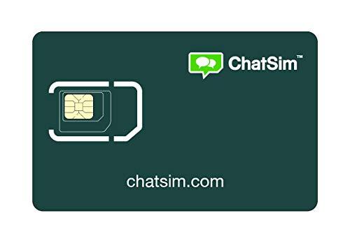Tarjeta SIM internacional para viajes en todo el mundo – ChatSim – cobertura 165 Países, roaming global – red multioperador GSM/2G/3G/4G, sin costes fijos. 2 GB para 30 días