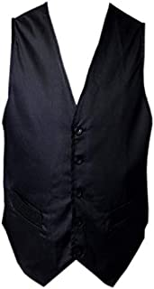 Black Pepper Hospitality Style Plain Waist Coat for Waiters, Bar Staff, Fancy Dress Party and Sizes: XS - 3XL