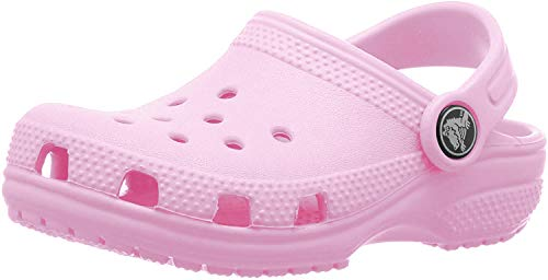 crocs Unisex-Kinder Classic Kids Clogs, Pink (Carnation 6I2), 33/34 EU