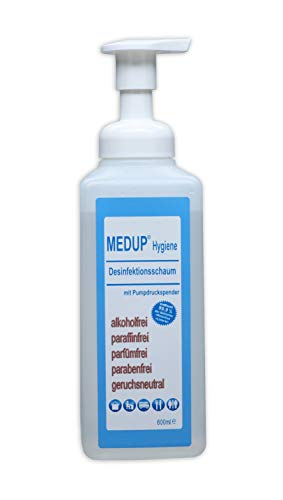 MEDUP 600ml Hygiene Desinfektionsschaum alkoholfrei paraffinfrei parfümfrei parabenfrei geruchsneutral