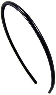 K40-001 -2 PEZZI - Cerchietti per capelli unisex sottili cm 0,5 con doppia fila dentini colore nero - 2 PEZZI Cerchietti p...