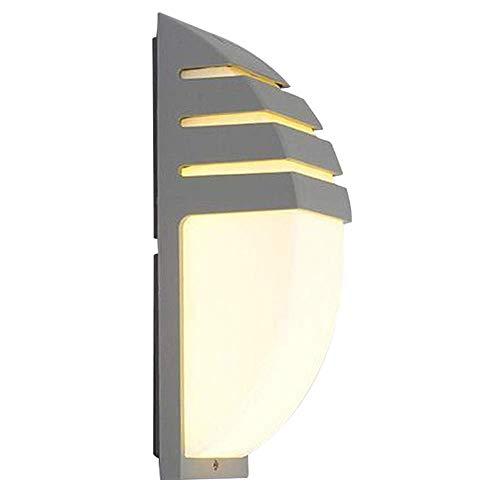Diseño simple moderno Elegante interior o exterior Impermeable IP65 HollowOut Aluminio con forma de arco 8W Luz de pared LED para puerta delantera Jardín Pasillo Balcón Patio (Negro (luz blanca fría))