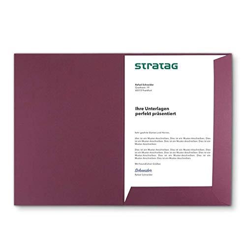 Präsentationsmappe A4 in Bordeaux 5 Stück (wählbar) - erhältlich in 7 Farben - direkt vom Hersteller STRATAG - vielseitig einsetzbar für Ihre Angebote, Exposés, Projekte oder Geschäftsberichte