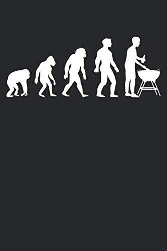 EVOLUTION DES GRILLEN: Sprüche 6´x 9´ Notizbuch, liniert fürs Büro, Schule und Uni oder Universität