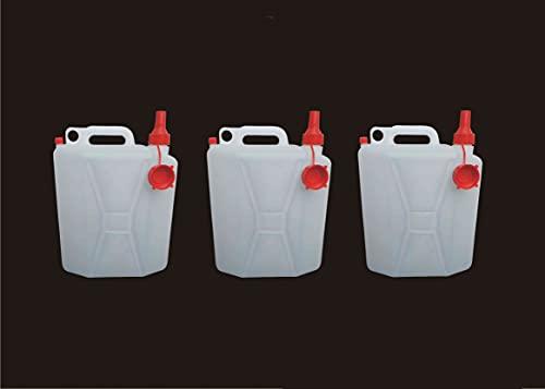 NUOVA PLASTICA ADRIATICA - Taniche per Acqua, Contenitori per Liquidi da 25 Litri, 3 unità