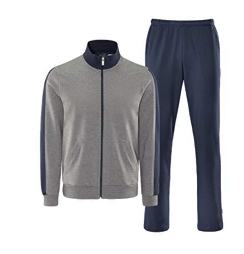 Schneider Sportswear Herren Sport-Freizeit-Trainingsanzug JANNISM Anzug grau blau, Größe:29