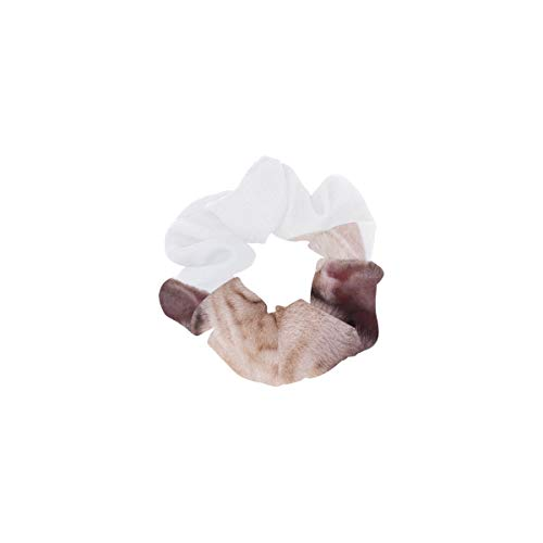 Große Pferdeschwanzhalter Entzückende hellbraune französische Bulldogge liegend Niedliche Pferdeschwanzhalter Haarfarbenbänder Perfekt für dickes Haar Weiche Haarbänder für Frauen oder Mädchen Haarsc