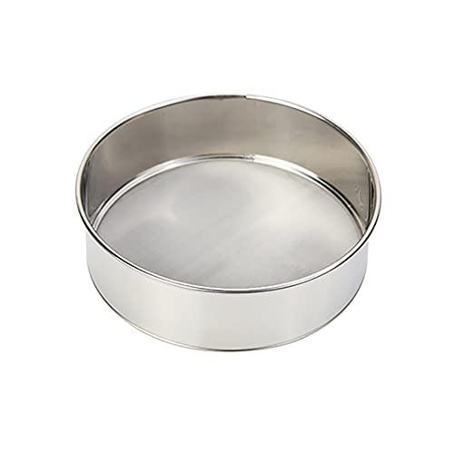 Mjölsil rostfritt stål sil finmaskig fin kökssil rostfritt stål fin mjöl siktning för mjöl ris spannmål bönor frukt och grönsaker