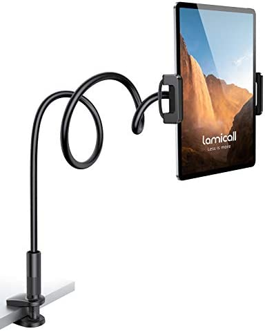 Gooseneck Tablet Mount Holder for Bed Lamicall Flexible Tablet Arm Clamp Bed Stand for 4 7 11 product image