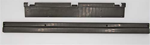 Tischgleitschiene Set, 2-teilig I Wandschiene 71,5cm I Tischschiene 49cm I ABS I grau I kompatibel mit allen gängigen Wohnwagen