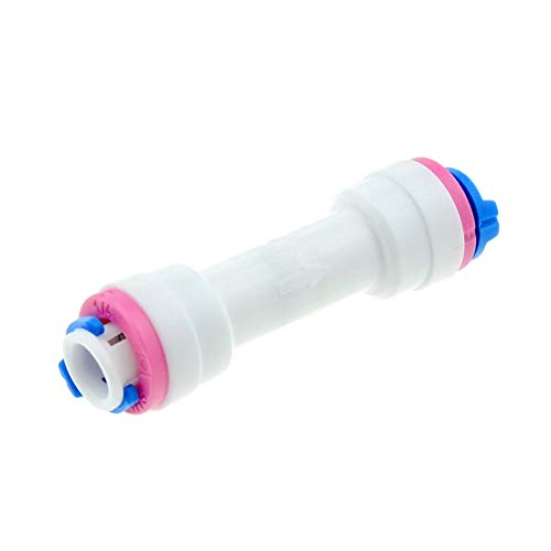 DINGGUANGHE Sistema de ósmosis inversa Acuario Montaje de Igualdad Recto 1/4 Pulgadas de diámetro Exterior de la Manguera Válvula de retención de Anclaje rápido del Agua del RO Conectores de Tubos de