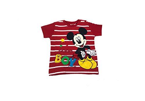 ARNETTA t-Shirt Topolino Neonato in Cotone 46419 Primavera Estate Bambino Regalo (Rosso, 12 Mesi)