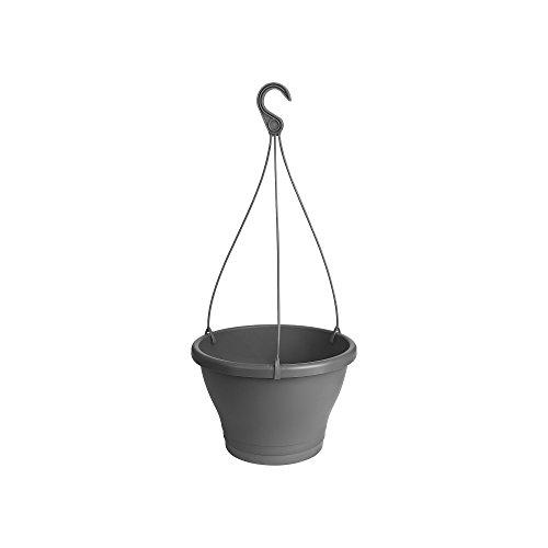 Elho Corsica hanglamp 30 - bloempot - antraciet - buiten & balkon 30 cm antraciet