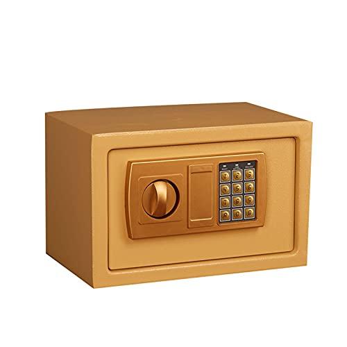 GQTYBZ Cajas Fuertes para el Hogar, Sistema de Alarma Dual ElectróNico Seguro con Contraseña de Acero, Caja Fuerte Digital IgníFuga Fácil de Operar, para El Hogar/Oficina/Efectivo/Dinero/Pasaportes