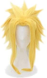 COSPLAZA Cosplay Wigs Yellow Golden Medium Length Hero Cosplayer Cosplay Costume Wig