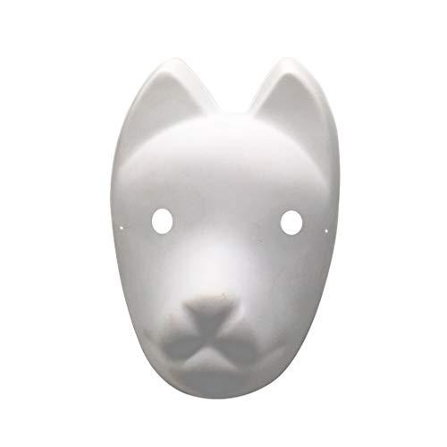YangYong Fox Cosplay Mask for Masquerade Halloween, Japanese Kitsune Kabuki