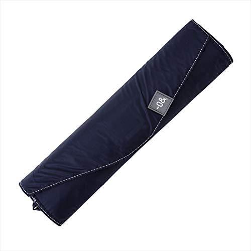 小川(Ogawa) 日傘 折りたたみ傘 メンズ レディース 大きい 60cm 6本骨 遮熱 遮光 UVカット 99.9%以上 軽量 197g -0& ゼロアンド ネイビー 手開き 安全カバー付き はっ水 収納しやすい共袋 52884