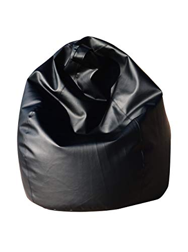 13Casa - Dea A4 - Poltrona sacco. Dim: 70x70x110 h cm. Col: Nero. Mat: Ecopelle.