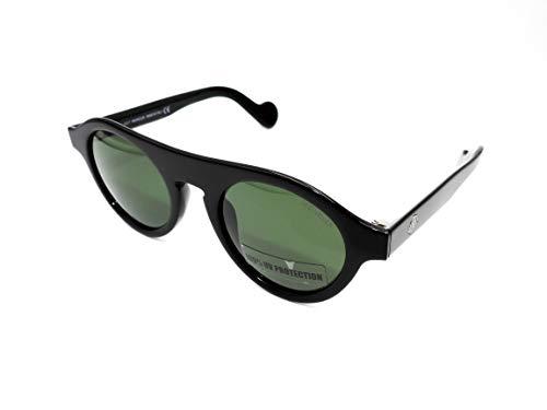 MONCLER ML0039-01N Gafas, negro, 48/22/145 Unisex Adulto