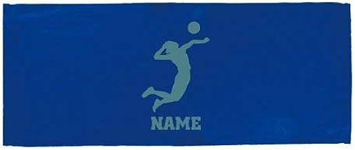 「アタッカー」名入れフェイスタオル、スポーツタオル、バレーボール、排球、部活、ギフト、贈り物、お名前、名入れギフト、大会 景品 参加賞【FTC】退職祝い 退職プレゼント
