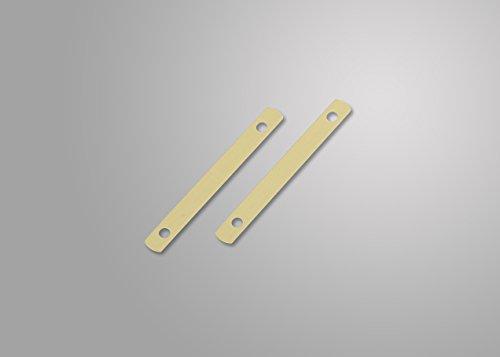 Deckleisten aus Metall, messingfarbig, 95 mm lang, Lochung 80mm, 500 Stück