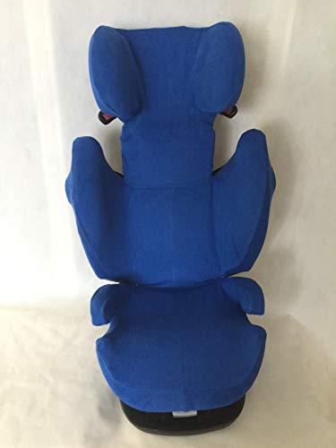 Sommerbezug Schonbezug für Cybex Solution M, M-Fix, S-Fix, M SL Frottee 100% Baumwolle blau