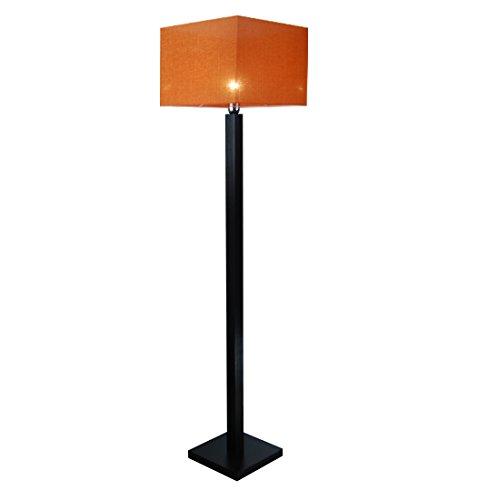 Stehlampe, Stehleuchte - HausLeuchten - LP4ORD - WENGE - Massivholz, Deckenfluter, Standleuchte (ORANGE)