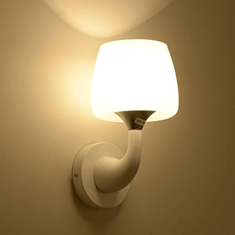 Reeseiy Modern Creative Wand Lampe Glas Led Warm Und Einfach Kinder Wohnzimmer Gang Schlafzimmer Nachttischlampe Doppel Kopf (Farbe   Single Head-Größe)