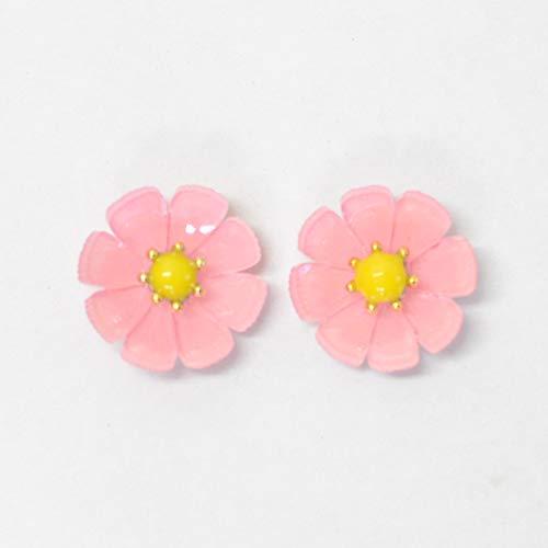 Lulu's ルルズ コスモスの花のピアス ピンク ネジばね イヤリング アクセサリー ネジばねピンク Lulu's-1179