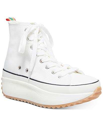 Madden Girl Women's Winnona Sneaker, White Fabric, 8.5