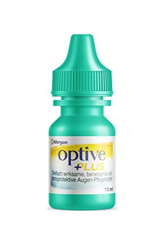 Allergan Optive® PLUS Augentropfen gegen trockene Augen | 10 ml Augentropfen mit Hyaluron + CMC | Ideale Augentropfen gegen rote Augen