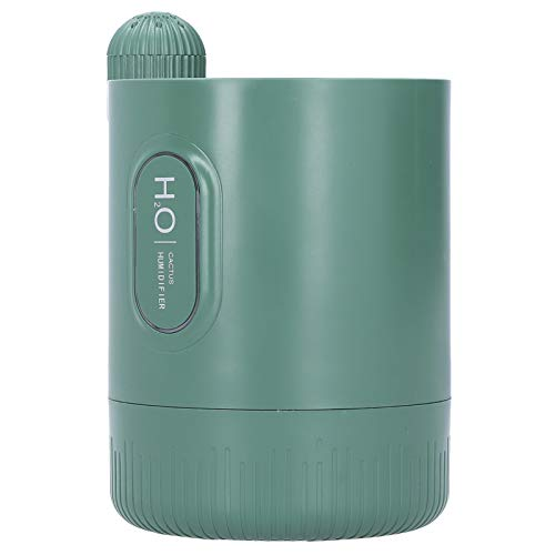 Difusor de aroma humidificador difusor de alta calidad 2000mAh batería mAh ABS y humidificador de aire de silicona oficina de coche para el hogar(green)