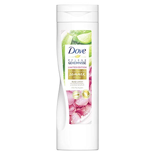 Dove Pflegegeheimnisse Body Lotion Erfrischendes Sommer Ritual Limited Edition mit Aloe Vera- und Rosenwasserduft, 250 ml