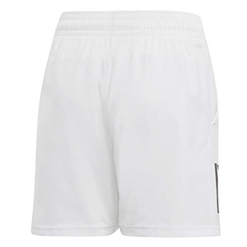adidas Juniors' 3-Stripes Club Tennis Shorts, White/Black, X-Small